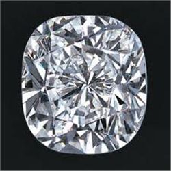 EGL CERT 0.53 CTW CUSHION DIAMOND F/SI2
