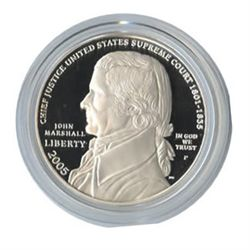 US Commemorative Dollar Proof 2005 Chief Justice John M