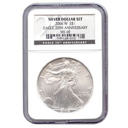 Certified 2006 20th Anniversary American Eagle Silver U