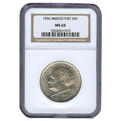 Certified Commemorative Half Dollar Bridgeport 1936 MS6