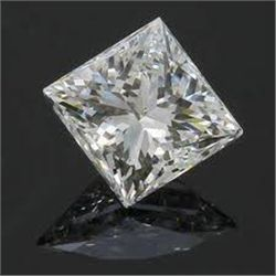 EGL CERT 0.58 CTW PRINCESS CUT DIAMOND E/SI2