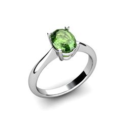 Genuine 2.90 ctw Green Tourmaline Ring 14k W/Y Gold