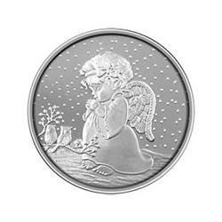 Christmas 2012 Silver Round X-27 Child Angel - Half Oun