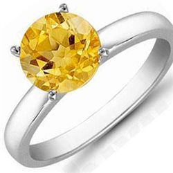 Citrine 0.70 ctw Solitaire Ring 14kt W/Y  Gold