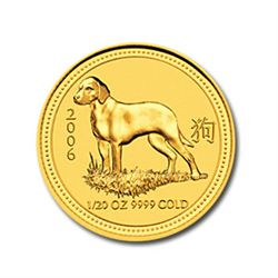 2006 1/20 oz Gold Year of the Dog Lunar Coin (Series 1)