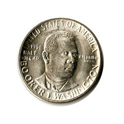 US Commemorative Half Dollar 1951-P Booker T Washington