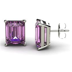 Genuine 4.50 ctw Amethyst Earring 14k W/Y Gold