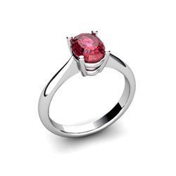 Genuine 2.10 ctw Garnet Ring 14k W/Y Gold