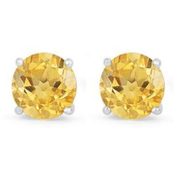 Genuine 2.60 ctw Citrine Stud Earring 14k 0.96g