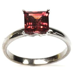 1.75 ctw Princess Cut Tourmaline Ring 14kt White Gold