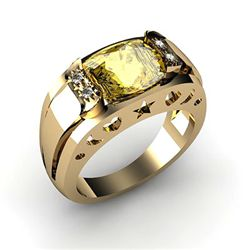 Genuine 2.95 ctw Citrine Ring 14k 4g,  RS 7