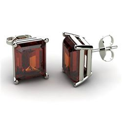 Genuine 3.40 ctw Garnet Earring 14k W/Y Gold
