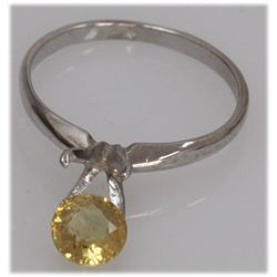 NATURAL 1.21 CTW 14K YELLOW SAPPHIRE GOLD RING
