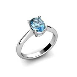 Genuine 0.57 ctw Topaz Ring 14ktW/Y Gold