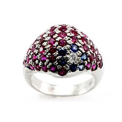 Genuine  3.11 ctw Ruby, Sapphire Ring 14k