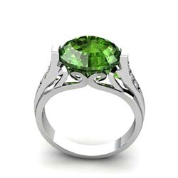 Genuine 5.09 ctw Emerald Ring 10k W/Y Gold