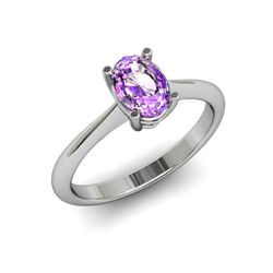Genuine 1.75 ctw Amethyst Ring 14k W/Y Gold