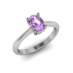 Genuine 1.25 ctw Amethyst Ring 14k W/Y Gold