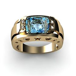 Genuine 4.05 ctw Topaz Ring 14k 4g,  RS 7