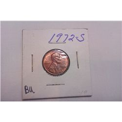 1972S BU Lincoln Cent
