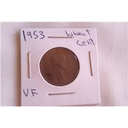 1953 VF Wheat Cent