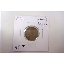 1924 VF+ Wheat Cent