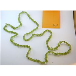Natural Peridot Chip Necklace