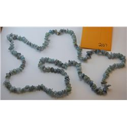 Natural Aqua Marine Chip Necklace