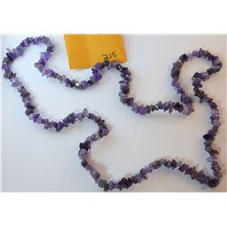 Natural Amethyst Chip Necklace