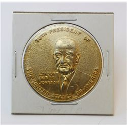 "Lyndon Baines Johnson ""36th President of the United States of America"" obverse, Build the Great Soci"