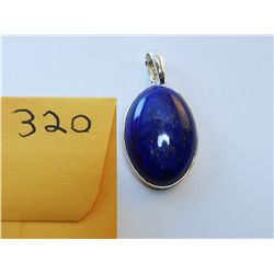 Natural Lapis Lazuli Pendant set in .925 Sterling Silver