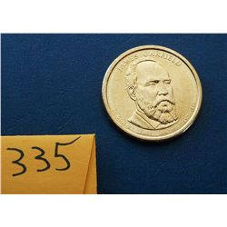 2011 D James Garfield $1 Coin
