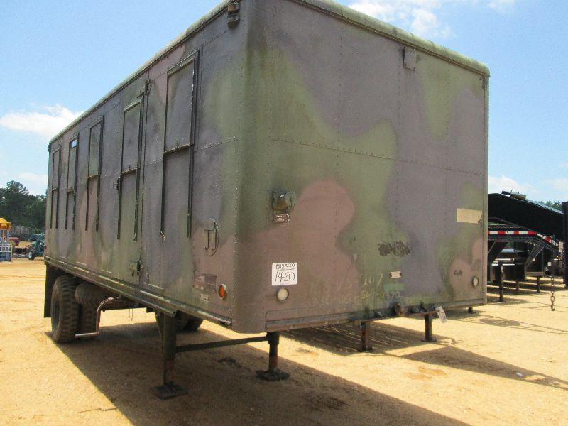 1964 28' S/A MILITARY VAN TRAILER, S/N SVS207, 9.00-20 TIRES