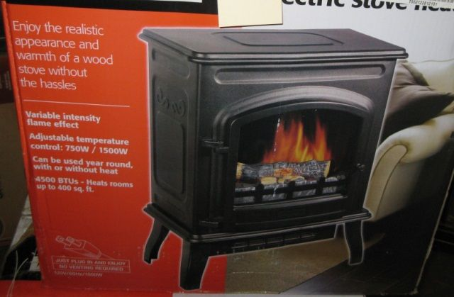 Sylvania Electric Stove Heater, in the box