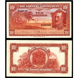 Bahamas Government, 1919 Currency Note Act (1930) Issued Banknote Rarity.