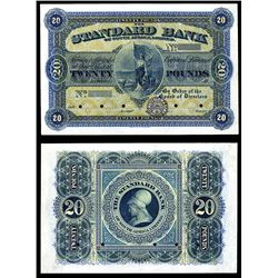 Standard Bank of South Africa Limited, Unlisted 19xx (ca.1900's) Issue Waterlow Color Trial Banknote