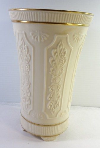 Lenox Vase Hand Decorated With 24k Gold 9 Tall