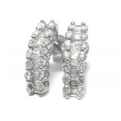 Diamond Earrings 1.36carat with 18k White Gold