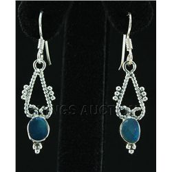 Opal Doublet 12.36ctw Cute Design .925 Hook Earring