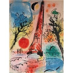 Marc Chagall, Visions of Paris (from Chagall Lithographie II) (M. 287), Lithograph