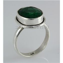 EMERALD BERYL 22.67CTW STERLING SILVER RING
