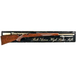 Belgium Browning Safari Grade High Power Bolt Action Rifle with Original Box
