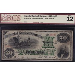 1915 Imperial Bank of Canada $20