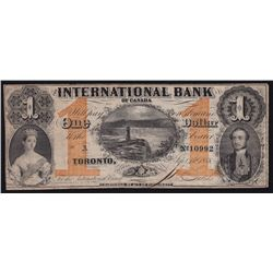 1858 International Bank of Canada $1