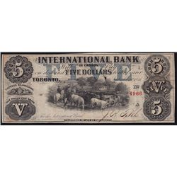 1858 International Bank of Canada $5