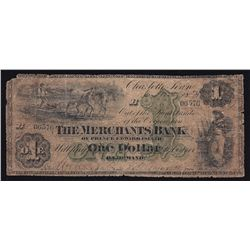 1871 Merchants Bank of Prince Edward Island $1