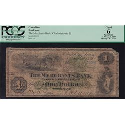 1889 Merchants Bank of Prince Edward Island $1