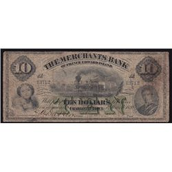 1892 Merchants Bank of Prince Edward Island $10
