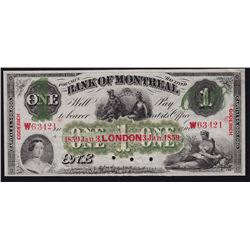 1859 Bank of Montreal $1 Goderich O/P