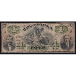 1871 Bank of Montreal $4